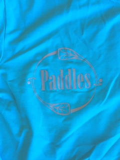 Paddles Logo On Teal