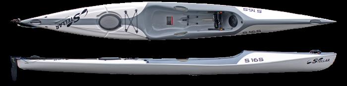 Surf Ski S16S White Combo