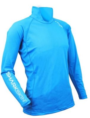 Sharkskin Rapid Dry Long Sleeve With Collar Blue