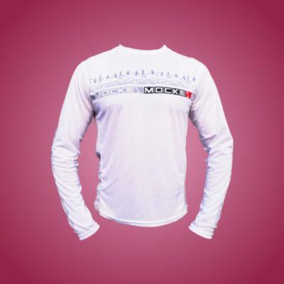 Mocke Fly Dry T-Shirt Long Sleeve Mens White